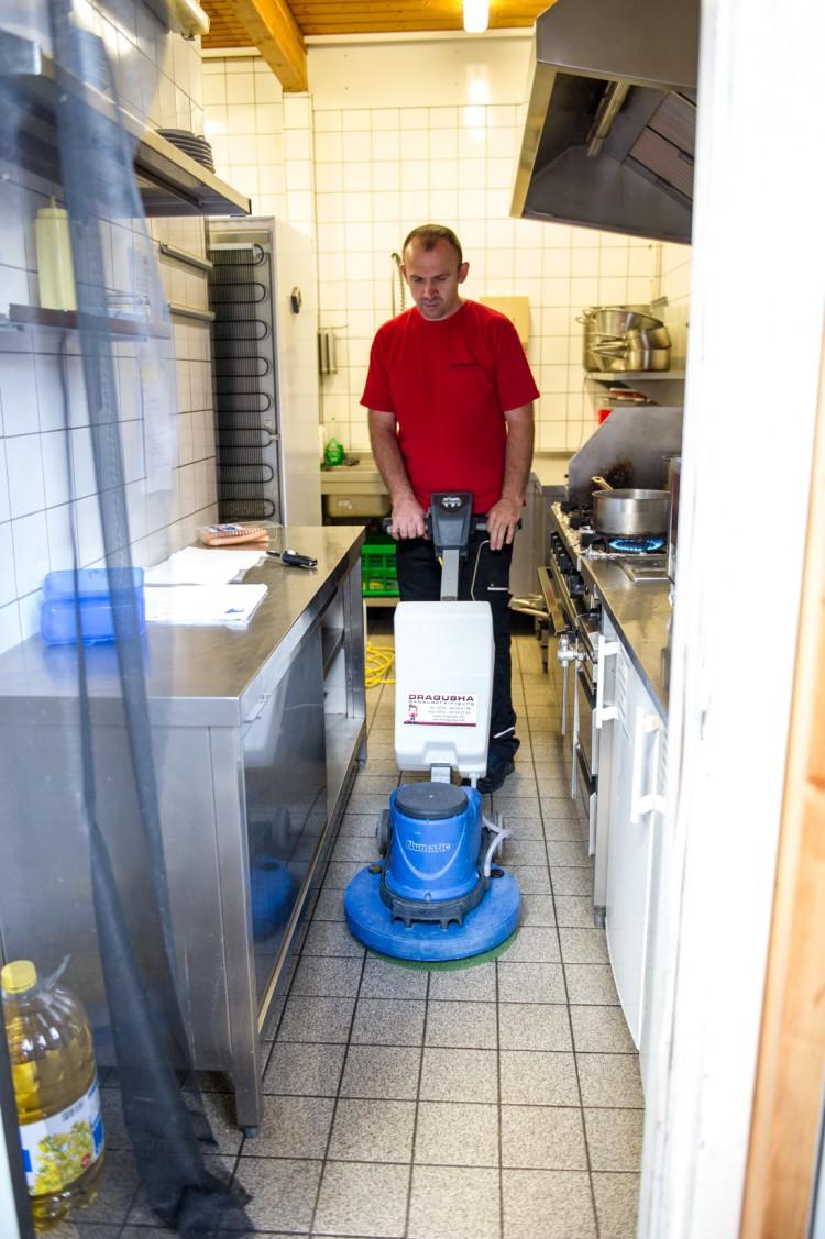 Draundreinigung Küchenboden